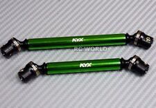 Axial SCX10 II 2 CARBON STEEL  DRIVES Front + Rear  SHAFTS  GREEN  110MM + 130MM