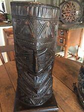 FREE SHIPPING Vintage 1970/'s hand carved Tiki bar lamp