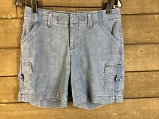 Lee 241 Blue Chambray Cargo Shorts Women's 4