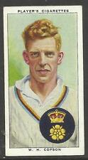 PLAYER'S 1938 CRICKETERS William Copson Card No 5 of 50 CRICKET CIGARETTE CARDS