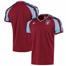 Aston Villa Kappa Retro T-Shirt - Claret - Mens
