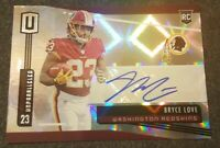 BRYCE LOVE 2019 UNPARALLELED AUTOGRAPH AUTO ROOKIE RC *REFRACTOR*REDSKINS*NRMT*