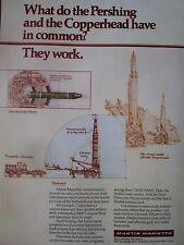 5/1982 PUB MARTIN MARIETTA US ARMY PERSHING MISSILE COPPERHEAD ARTILLERY AD
