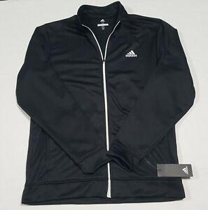 Adidas Mens Golf Full Zip Fleece Jacket Black -white Full Zip ADVF20R785