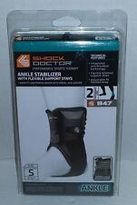 Shock Doctor 847 Ankle Stabilizer with Flexible Support Stays (Black, Small)
