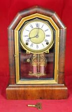 Ansonia Bell-Chime Mantel Clock w/ Faux Mercury Pendulum - Vintage - Repair