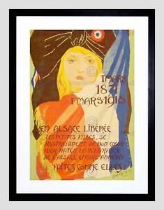 PROPAGANDA ALSACE LIBERTY LITTLE GIRLS GROGNUZ NEW FRAMED ART PRINT B12X11061