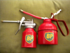SET OF 2 RETRO REPRODUCTION BP OIL CANS( 250cc & 500cc)