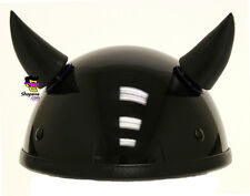 Helmet Horns Devil Black Stick On Horns For Motorcycle Bike Ski Snowboard Helmet