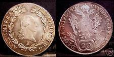 AUSTRIA  20 Kreuzer AG Franciscus 1°  1808 A  UNC