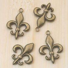 6pcs antiqued bronze two sides pendant charm G761