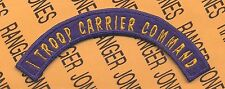 USAAF USAF Air Force I TROOP CARRIER COMMAND tab arc patch
