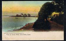 SAVIN ROCK  CT POSTCARD SHORE WALK ROTOGRAPH 1907 CONNECTICUT Rotograph