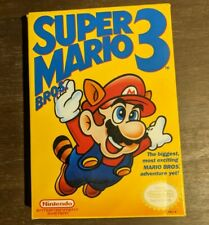 Super Mario Bros 3 Nintendo NES Complete in Box 1st Print Bros on the left MINT