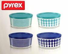 SEALED Pyrex 8 Piece Simply Store Decorated Glass Storage Containers W/ Lids