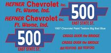 #500 Bill Rexford 1957 Chevrolet 1/24th - 1/25th Scale Decals