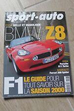 SPORT AUTO N°458 MARS 2000 BMW Z8 PORSCHE 911 TURBO FERRARI 360 SPIDER F48