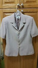 Kasper Ladies Beige Skirt Suit - Jacket Sz 10 / Skirt Sz 12