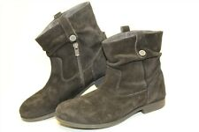 Birkenstock Womens Size 8 39 Suede Short Zip Flat Germany Made Ankle Boots