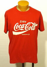 vintage COKE COCA-COLA  t-shirt - Screen Stars - thin cotton/poly LARGE