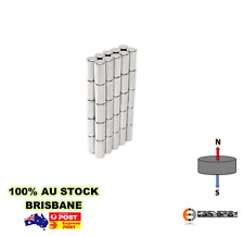 10x Strong 5mm x 10mm N45 Neodymium Cylinder Magnets | Rod Rare Earth | Disc