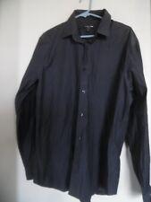 1MX Express Modern Fit Gray  Long Sleeve Dress Shirt XL 17 17 1/2