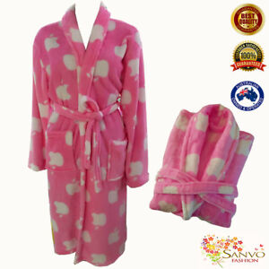 Women's  Coral Fleece Bathrobe Luxurious Supersoft  Night robe Dressing Gown