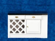 Dolls House Miniature 1:12th Scale Black & White Kitchen Island