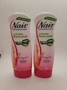 Set of 2: Nair Hair Remover Lotion, with Soothing Aloe & Lanolin - 9 oz