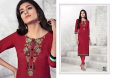 Ladies Indian Bollywood Red Kurti Tunic Kurta Embroidery
