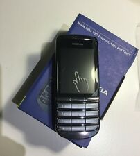NOKIA Asha 300 Graphite 3G Unlocked New Condition Touch & Type 5MP Camera Phone