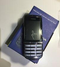 NOKIA Asha 300 Grafite 3G Sbloccato Nuove Condizioni Touch & Type 5MP TELEFONO FOTOCAMERA