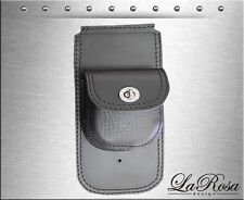 1984-1999 La Rosa Black Leather Pouch Design Harley Softail Frame Dash Extension