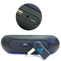 Wireless USB Mini Bluetooth Aux Stereo Audio Music Car Adapter Receiver 3.5mm EB