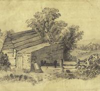 ELLACOMBE TORQUAY Royaume-Uni 1868 Dessin Original XIXe Signé Baubile