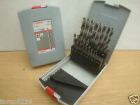 BOSCH 19PCE 1MM TO 10MM HSS-G METAL DRILL BIT SET IN PLASTIC CASE 2 608 587 013