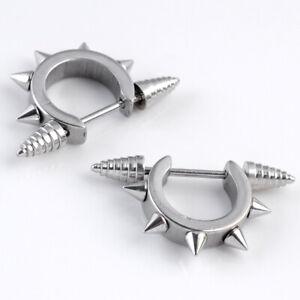 Men Women Punk Spike Cone Hoop Nipple Shield Ring Bar Barbell Steel Piercing NEW