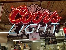 """Coors Light"" neon beer sign, flashing. 30""x20"". Local pickup only."