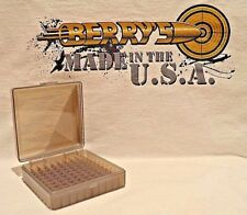 22 lr Ammo Box / Case / Storage (100) Round .22LR, .25 ACP (SMOKE COLOR)