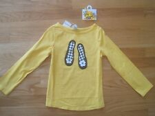 GIRL GYMBOREE BLACK HOUNDSTOOTH SHOES YELLOW SHIRT & CURLIES BARRETTES NWT 6