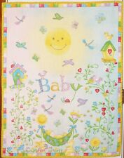 Garden Baby Flowers Birds Snails Wall Hanging Handmade & Finished Quilt