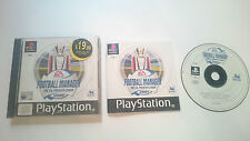 FOOTBALL MANAGER PREMIER LEAGUE 2001 F.A. SONY PLAYSTATION PS1 PSX PAL UK.