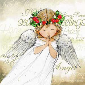St Ann's Hospice Charity Christmas Cards 'Christmas Angel' Pack of 10 Cards