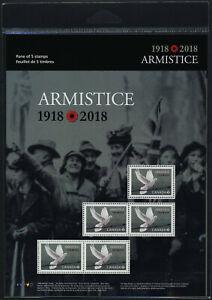 Canada 3130 sheet MNH WWI Armistice, Dove