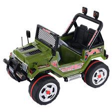 12V MP3 Kids Raptor Jeep Wrangler Truck RC Ride On Car w/ Double Motor & Battery