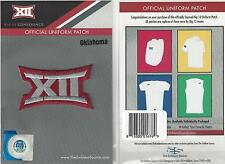 Oklahoma Big 12 Conference Jersey Uniform Patch 100% Official Football Logo