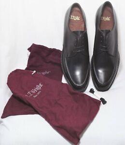 Brand New With Bags_Made In Italy_E.T. WRIGHT_Size 14 B_Black Leather Derbys