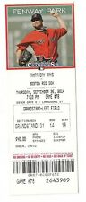 2014 BOSTON RED SOX VS TAMPA RAYS 9/25/14 TICKET STUB Rusney Castillo 1ST HR  bo