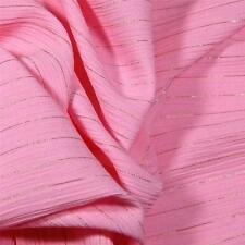 Gorgeous Pink & Metallic Gold Apparel Fabric, Woven Polyester, Per Yard