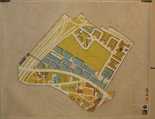 Vintage '71 'Campus High School' BOSTON URBAN RENEWAL City Illustrative Site MAP